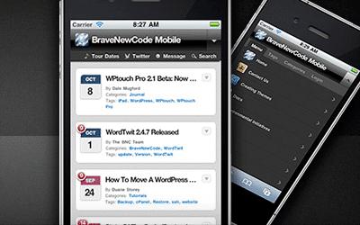 Lees de blog: WPTouch voor een mobiele versie van je website