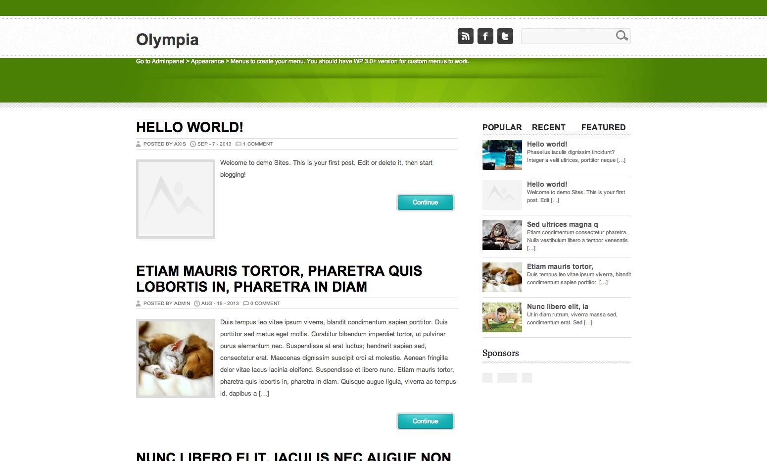 Olympia gratis WordPress themes