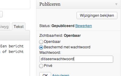 Lees de blog: Wekelijkse Wordpress tip: Artikel beveiligen met wachtwoord