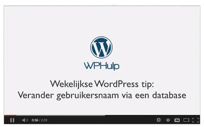 Lees de blog: [video] Wekelijkse WordPress tip: Verander gebruikersnaam via database