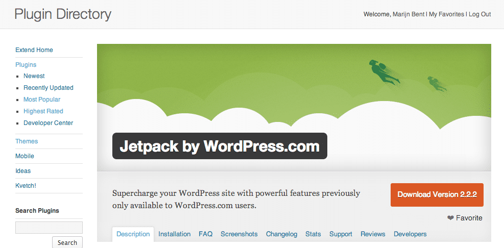 Favorite WordPress.org