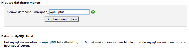 Database aanmaken 2
