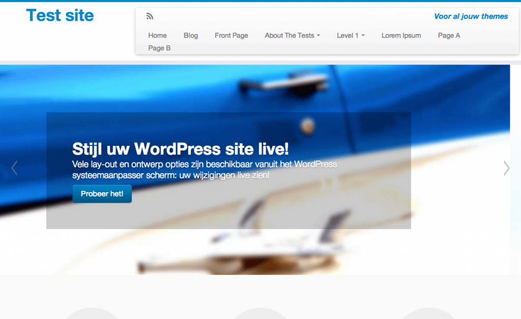 Customizr gratis WordPress themes 2013