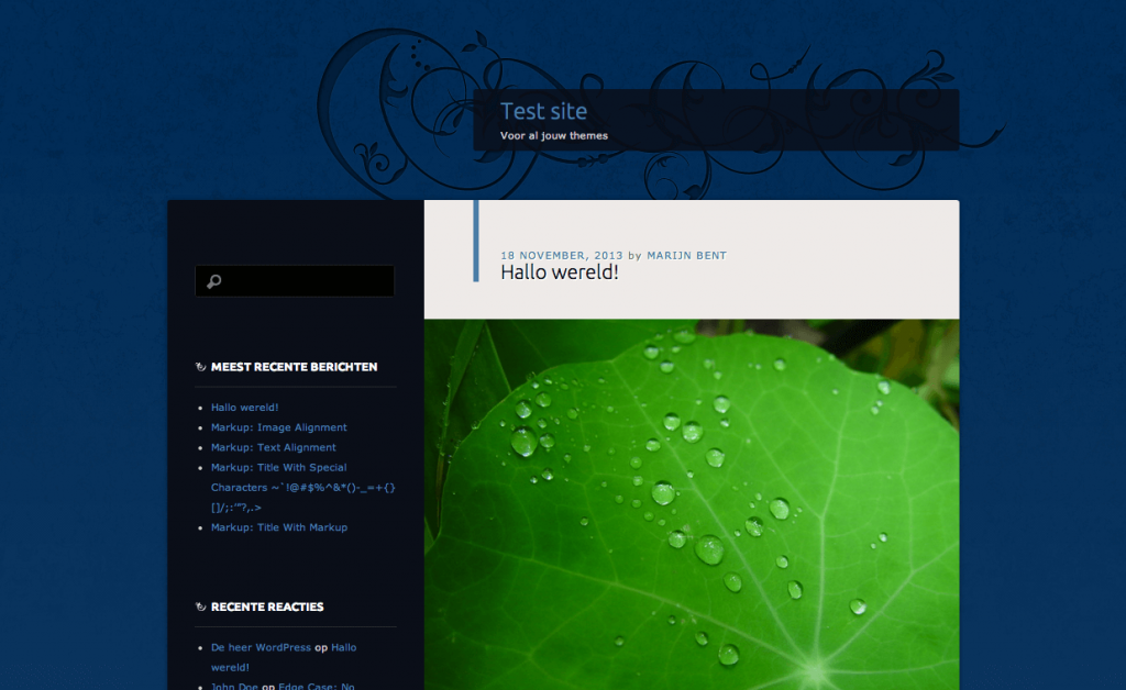 Dusk To Dawn gratis WordPress themes 2013