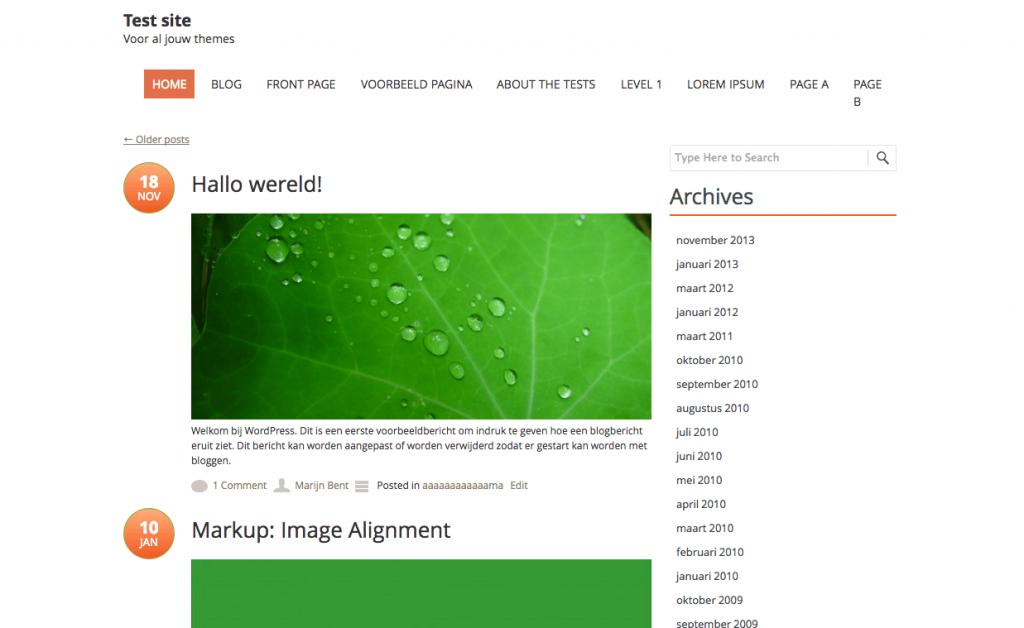 Fruitful gratis WordPress themes 2013