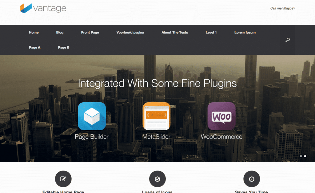 Vantage gratis WordPress themes 2013