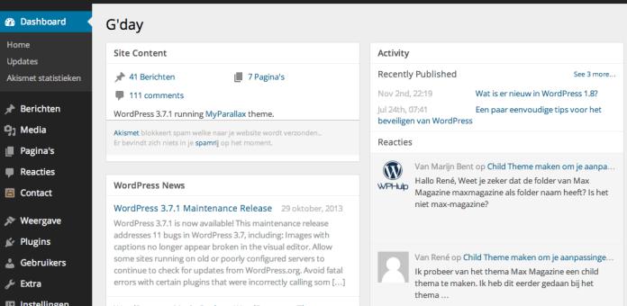 Lees de blog: Wat is er nieuw in WordPress 3.8?