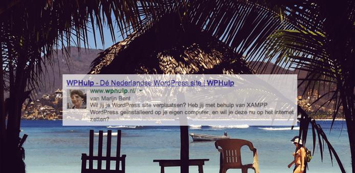 Lees de blog: Jouw eigen afbeelding in Google met een WordPress site