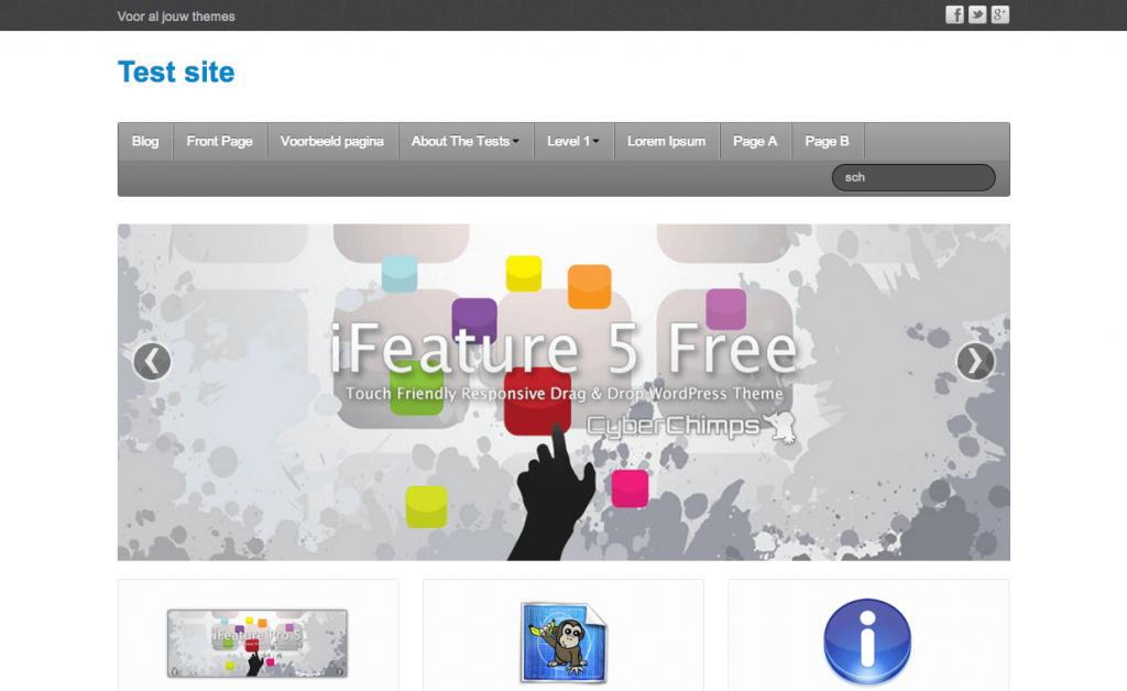 iFeature gratis WordPress themes 2013