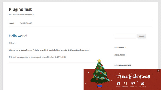 WordPress › Holiday Message « WordPress Plugins