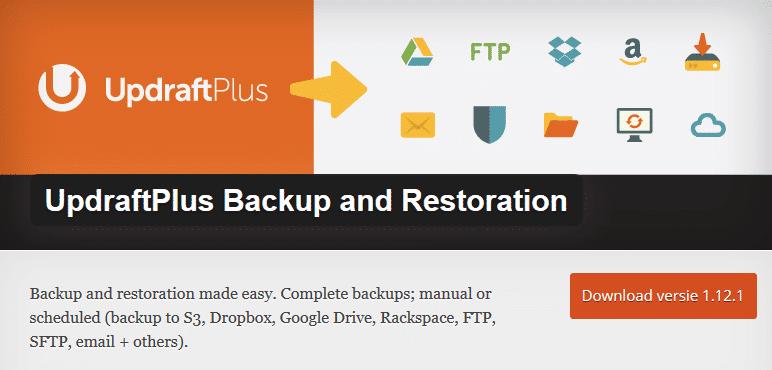 UpdraftPlus Backup and Restoration