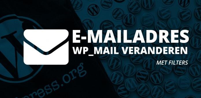 Standaard e-mailadres en naam veranderen in WordPress