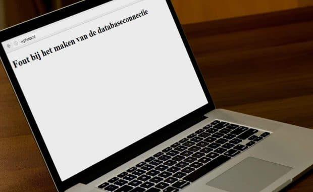 Fout bij het maken van de databaseconnectie