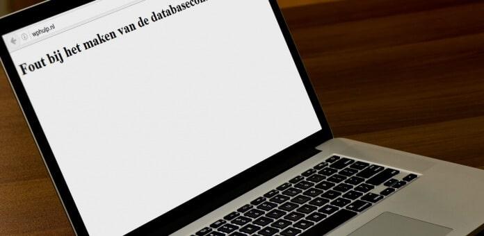 """Lees de blog: WordPress """"Fout bij het maken van de databaseconnectie"""" oplossen"""