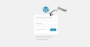 WordPress 4.5. inloggen met emailadres