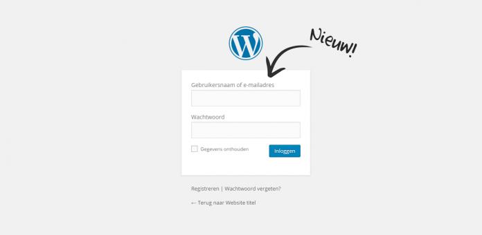 WordPress inloggen met e-mailadres en gebruikersnaam