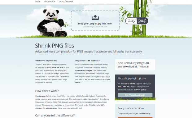 TinyPNG website screenshot
