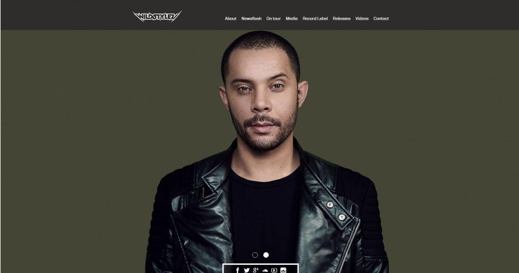 WordPress website DJ Wildstylez