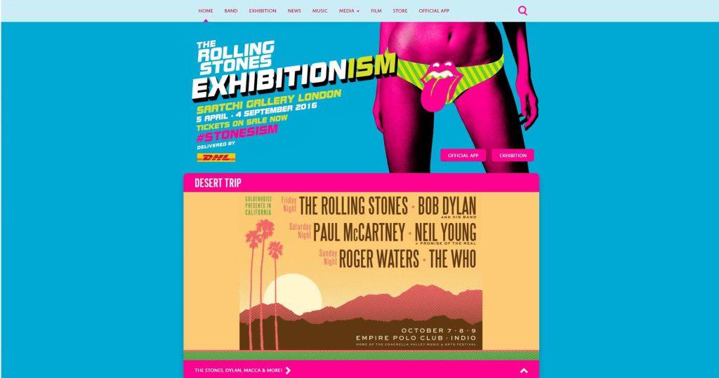 WordPress website Rolling Stones
